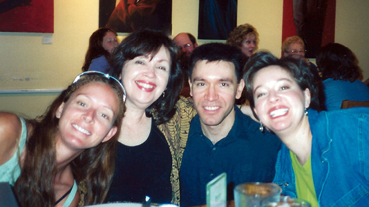 Pat Mora, second from left, with her children Cissy, Bill, and Libby