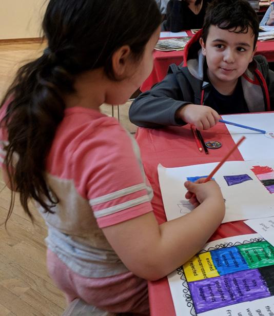 Children at the Eye of the Beholder workshop.